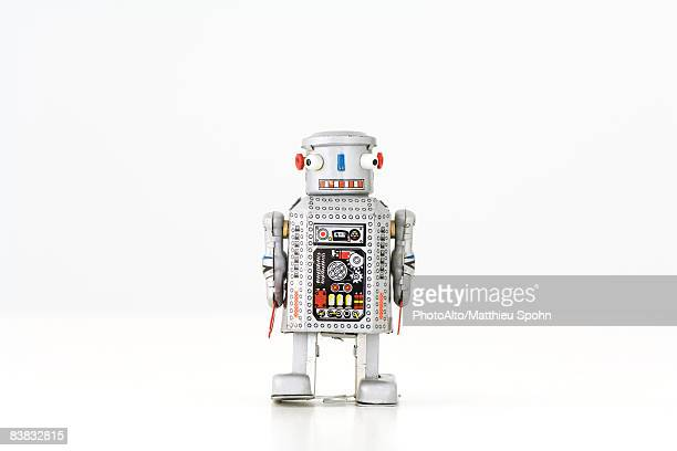 toy robot walking, full length - toy stock pictures, royalty-free photos & images