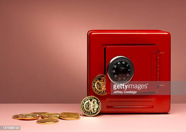 Toy Safe with Gold Coins