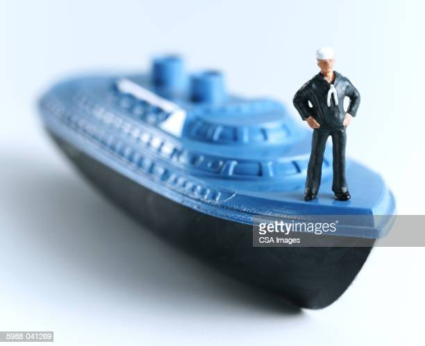 Toy Sailor on Toy Ship