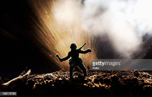 Toy Soldier in Explosion