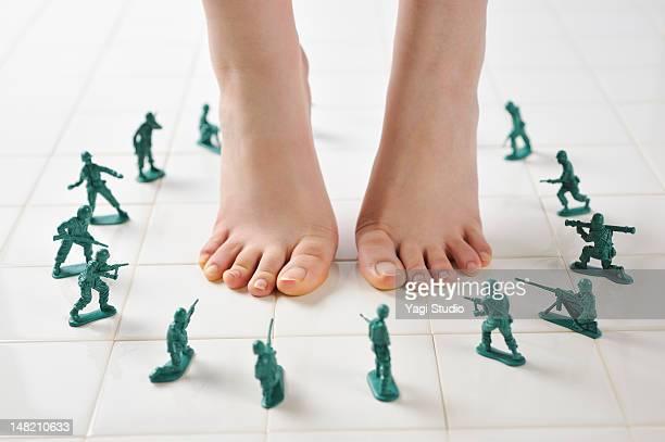 Toy soldier?around the legs