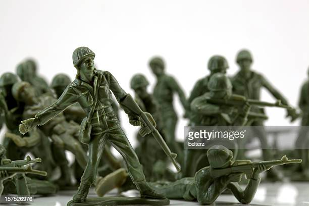 Toy soldiers in battle