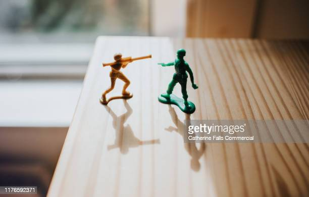toy soldiers - british veterans stock pictures, royalty-free photos & images