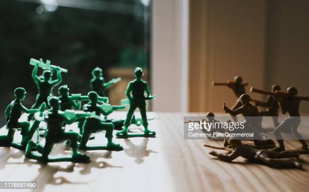 toy soldiers - war stock pictures, royalty-free photos & images
