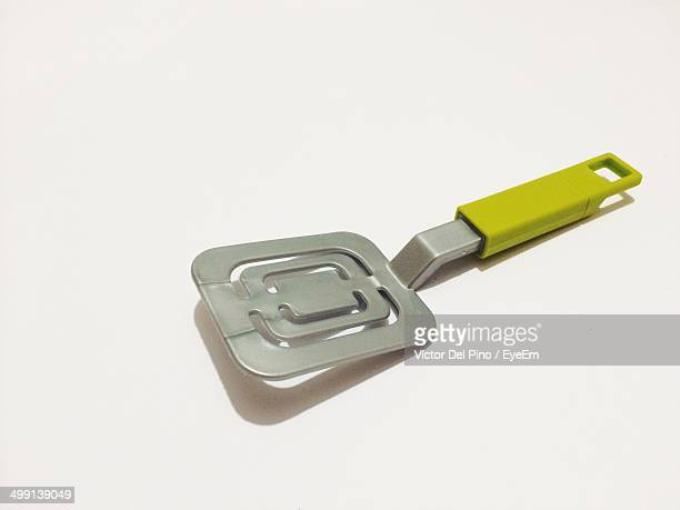 Toy spatula against white background