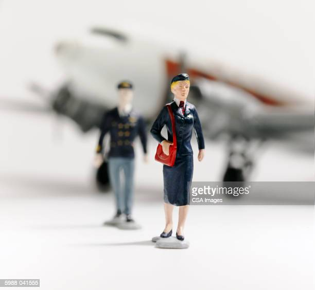 Toy Stewardess, Pilot, Plane