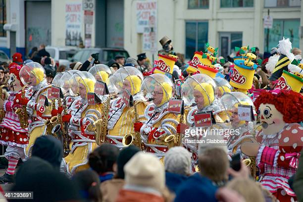 Toy Story themed Mummers takes part in New Year's Parade