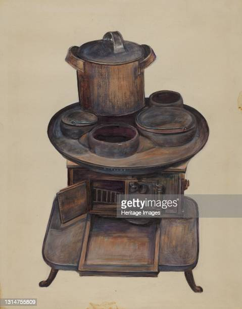 Toy Stove, 1935/1942. Artist Mina Lowry.
