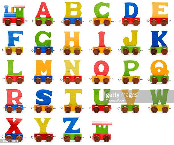 alfabeto de trem de brinquedo - letra h - fotografias e filmes do acervo