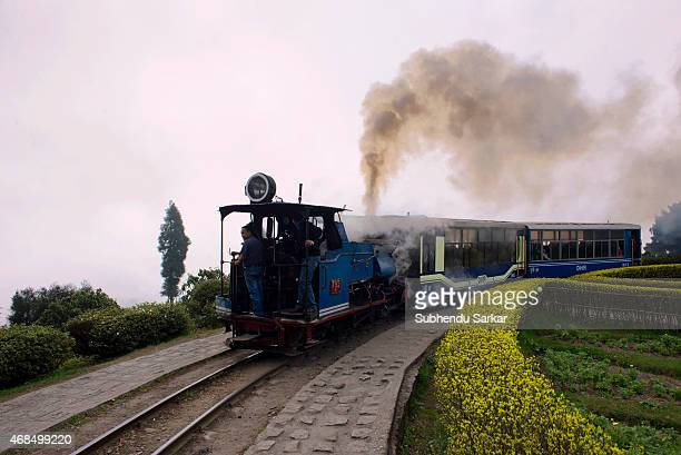 Toy Train makes its journey along Batasia Loop The Darjeeling Himalayan Railway also known as the 'Toy Train' is a narrow gauge railway Built between...