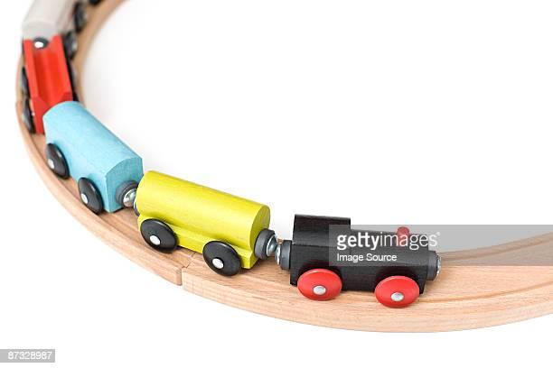 toy train on track - 模型の汽車 ストックフォトと画像