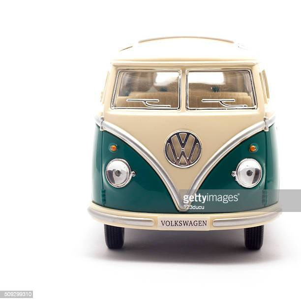Toy Volkswagen Bus Isolated