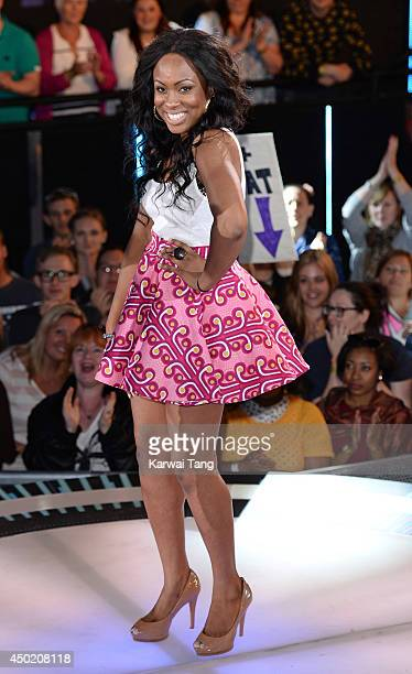 Toya A Washington enters the Big Brother house during the Live Launch Night 2 at Elstree Studios on June 6 2014 in Borehamwood England