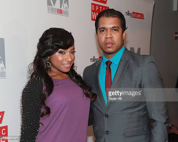 Toya Wright and Johnny Nunez attend the 2012 Mirror Mirror Awards at The Union Square Ballroom on December 12 2012 in New York City