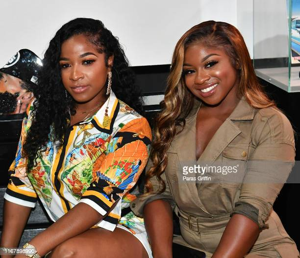 Toya Wright and Reginae Carter attend the Nipsey Hussle Exhibit Unveiling at The Trap Music Museum on August 13, 2019 in Atlanta, Georgia.