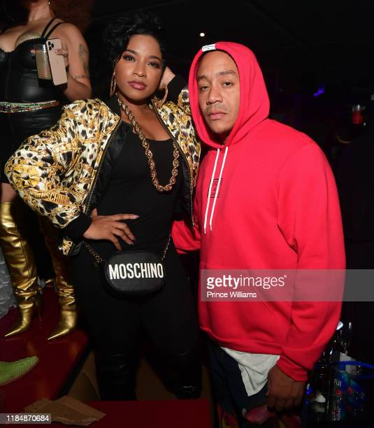 """Toya Wright and Robert """"Red"""" Rushing attend Cassette Hosted by BBD at The District on November 1, 2019 in Atlanta, Georgia."""