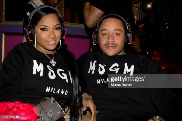 """Toya Wright and Robert """"Red"""" Rushing attend Tammy Rivera private album listening party at Lips on February 18, 2020 in Atlanta, Georgia."""