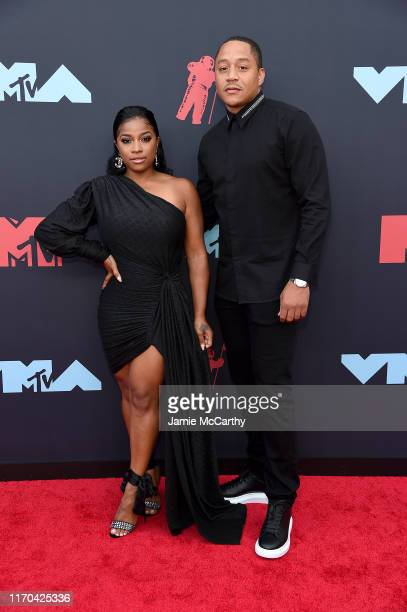 """Toya Wright and Robert """"Red"""" Rushing attend the 2019 MTV Video Music Awards at Prudential Center on August 26, 2019 in Newark, New Jersey."""