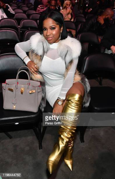 Toya Wright attends 2019 World Lightweight & World Light Heavy Weight Championships at State Farm Arena on December 28, 2019 in Atlanta, Georgia.