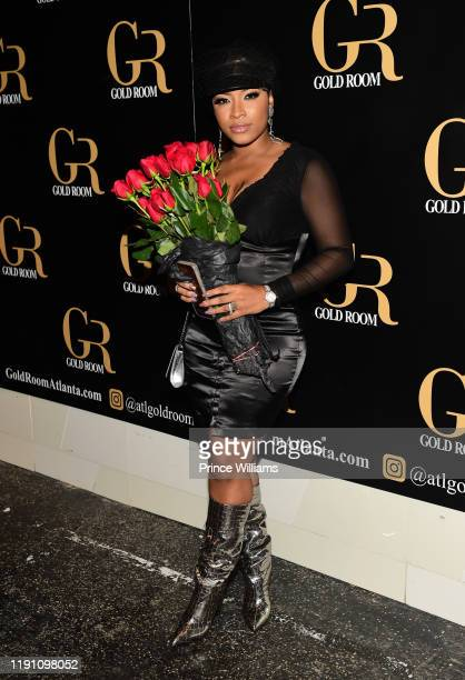 Toya Wright attends the All Black Birthday Celebration at Gold Room on November 30, 2019 in Atlanta, Georgia.