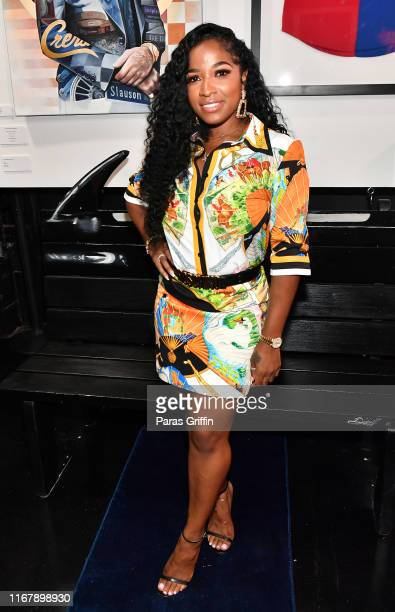 Toya Wright attends the Nipsey Hussle Exhibit Unveiling at The Trap Music Museum on August 13, 2019 in Atlanta, Georgia.