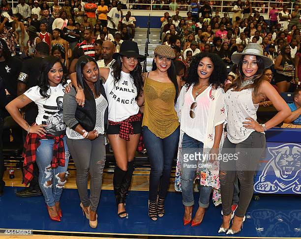 Toya Wright Keshia Knight Pulliam LeToya Luckett Monyetta Shaw Rasheeda Frost and Eudoxie Agnan attend the 2014 LudaDay Celebrity Basketball Game at...