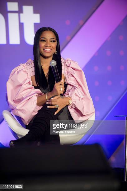 Toya Wright on stage during the 2019 Essence & Target Holiday Market at West End Production Park on December 14, 2019 in Atlanta, Georgia.