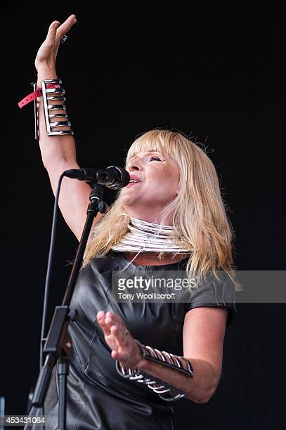 Toyah performs at Osfest on August 9 2014 in Oswestry England