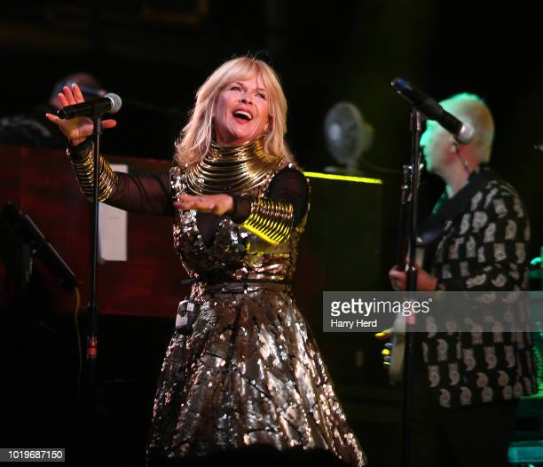Toyah performs with The SAS Band at Weyfest Festival on August 19 2018 in Tilford England