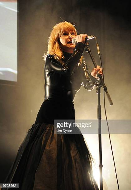 Toyah Willcox of The Humans performs during the Haiti Earthquake Fundraiser at The Camden Roundhouse on February 25 2010 in London England