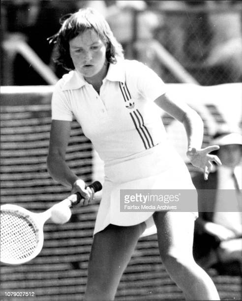 Toyata Womens' tennis championship at White CityAnne Hobbs December 5 1978