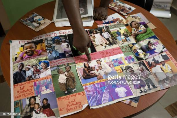 Toyin LoluOgunmade the founder of the agency Precious Conceptions which helps women with fertility problems shows pictures of her family in her...