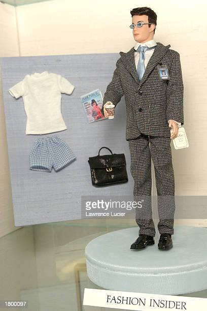 Toymaker Mattel features the Fashion Insider Ken Doll of the Modern Circle Barbie Collection at the 2003 Toy Fair February 16 2003 in New York City
