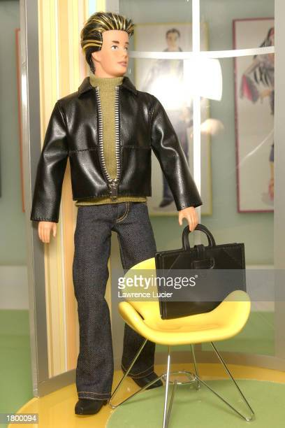 Toymaker Mattel features the Ken the Sensible Artist Doll of the Modern Circle Barbie collection at the 2003 Toy Fair February 16 2003 in New York...