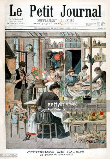 workshop of competitors 1901 Illustration published in Le Petit Journal 3rd November 1901