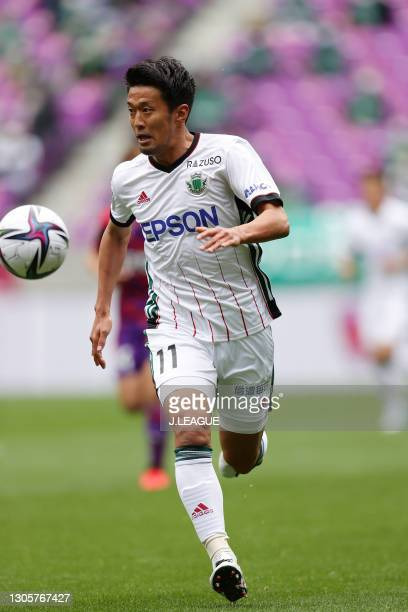 Toyofumi SAKANO of Matsumoto Yamaga F.C. In action during the J.League Meiji Yasuda J2 match between Kyoto Sanga and Matsumoto Yamaga at Sanga...
