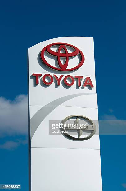toyota and scion sign - gulf coast states stock pictures, royalty-free photos & images