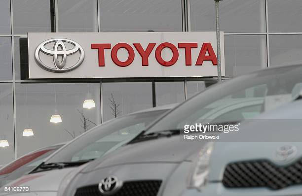 Toyota cars are offered for sale at a car dealership on December 22 2008 in Wiesbaden Germany Today Japanese carmaker Toyota Motor Corp the world's...