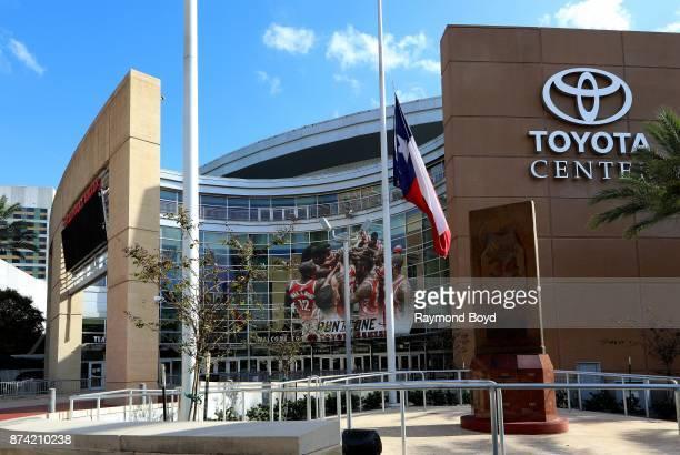 Toyota Center, home of the Houston Rockets basketball team in Houston, Texas on November 6, 2017.