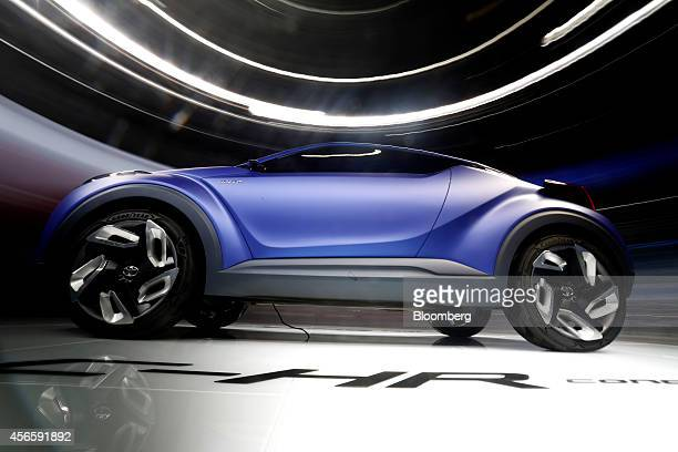 A Toyota CHR hybrid concept automobile produced by Toyota Motor Corp stands on display during the second preview day at the Paris Motor Show in Paris...