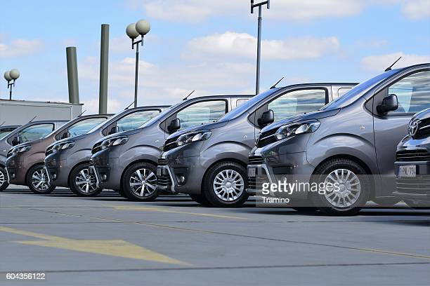 Toyota commercial vehicles in a row