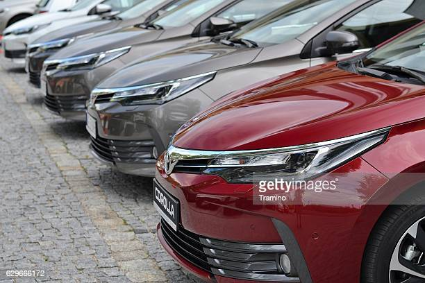 toyota corolla vehicles - toyota motor co stock pictures, royalty-free photos & images