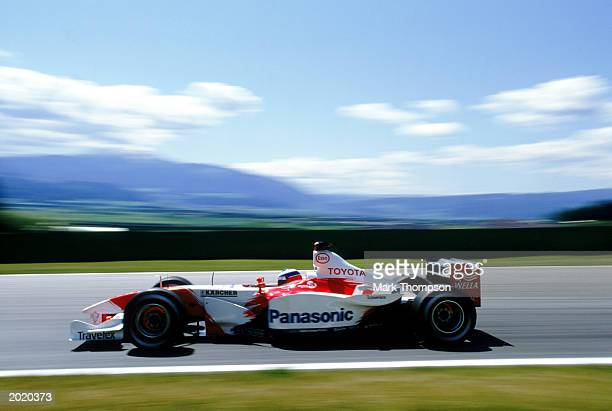 Toyota driver Olivier Panis of France in action during the Austrian Formula One Grand Prix held on May 18 2003 at the A1 Ring in Spielberg Austria