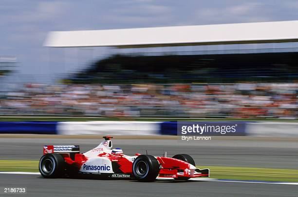 Toyota driver Olivier Panis of France in action during the British Formula One Grand Prix held on July 20 2003 at the Silverstone Circuit in...