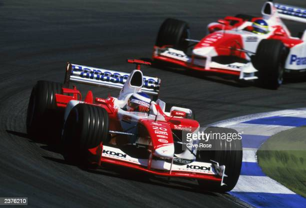 Toyota driver Olivier Panis of France in action during the German Formula One Grand Prix held on August 3 2003 at Hockenheim in Germany