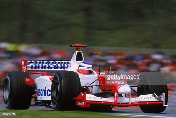 Toyota driver Olivier Panis of France in action during the San Marino Formula One Grand Prix held on April 20 2003 at the Autodromo Enzo e Dino...