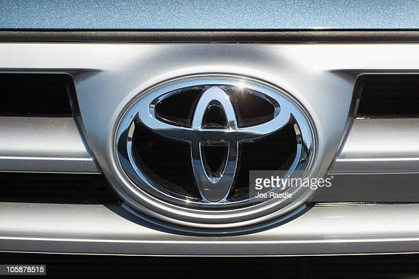 Toyota emblem is seen on a vehicle on October 21 2010 in Miami Florida Toyota announced today that it is recalling some 15 million vehicles worldwide...