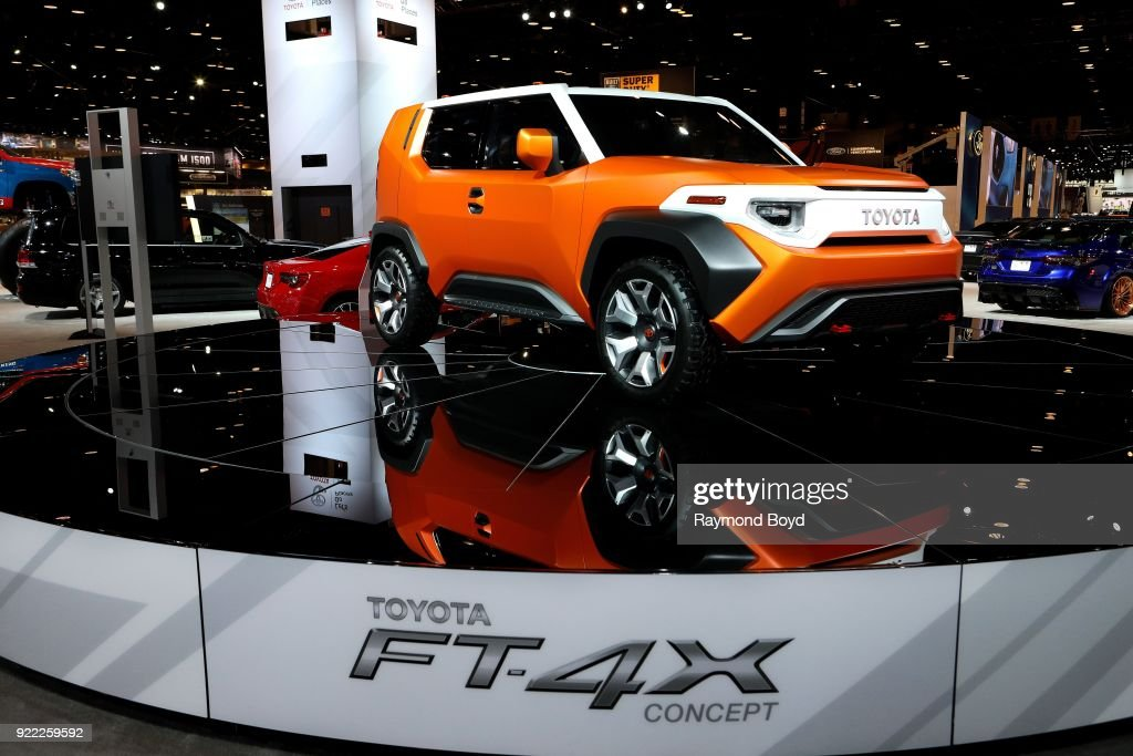 Toyota FT-4X Concept is on display at the 110th Annual Chicago Auto Show at McCormick Place in Chicago, Illinois on February 9, 2018.