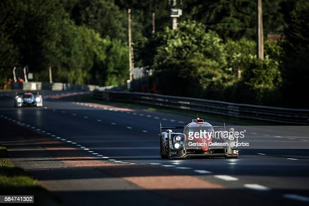 Toyota Gazoo Racing , #5 Toyota TS050 Hybrid with Drivers Anthony Davidson , Sebastien Buemi and Kazuki Nakajima during the 84th running of the Le...