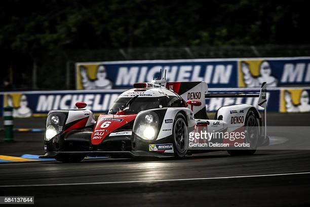 Toyota Gazoo Racing #6 Toyota TS050 Hybrid with Drivers Stephane Sarrazin Michal Conway and Kamui Kobayashi during the 84th running of the Le Mans 24...